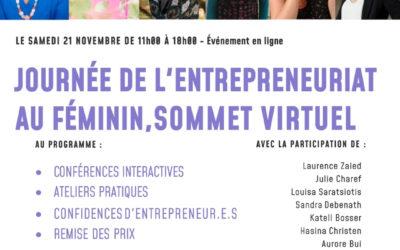 Journée de l'entrepreneuriat au féminin 2020 – Replay